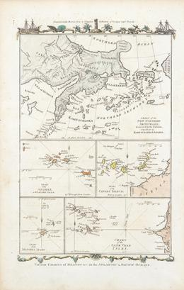 16  -  THOMAS CONDER - Various Charts of Islands in the Atlantic & Pacific Oceans