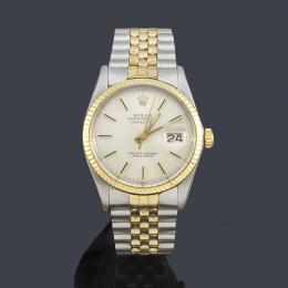 1621   -  Lote 1621 ROLEX Oyster Perpetual DateJust ref. 16013 nº 6493532 superlative chronometer officially certified  Date para caballero en acero y oro de 18 K.